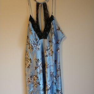 Blue floral lingerie